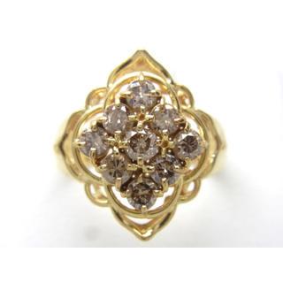 お値引き不可 K18 合計1.00ct 天然ダイヤリング(リング(指輪))