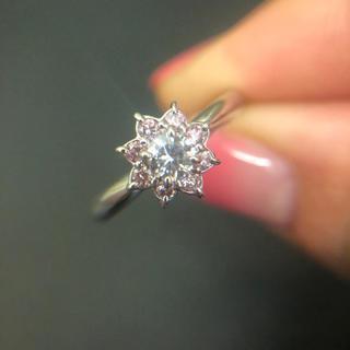 ピングダイヤモンドリング(リング(指輪))