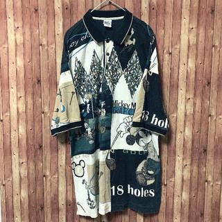ディズニー(Disney)のDisneyディズニー 90s ポロシャツ ミッキー ゴルフ ヴィンテージ XL(ポロシャツ)