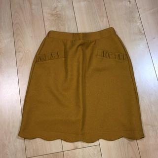 シマムラ(しまむら)のスカラップスカート(ひざ丈スカート)