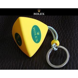ロレックス(ROLEX)のROLEX ロレックス アンカー型 シリコン キーホルダー キーチェーン 黄(キーホルダー)
