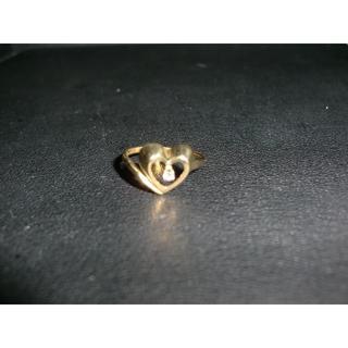 ティファニー(Tiffany & Co.)のTiffany&co ティファニー K18 リング オープンハート1石付き(リング(指輪))