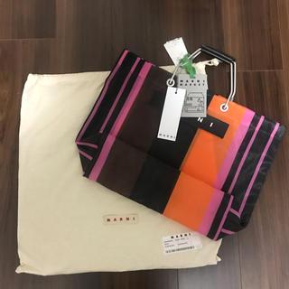 Marni - 即購入可能★マルニカフェ バッグ ストライプバッグ ピンク