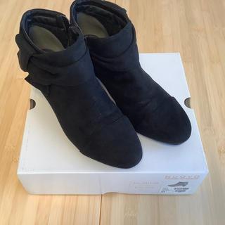 ヌォーボ(Nuovo)のNUOVO KNOT RIBBON 5 NC80108 23.5cm ブラック(ブーツ)