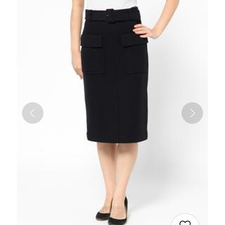 ミラオーウェン(Mila Owen)の圧縮ウール ボックス タイトスカート(ひざ丈スカート)