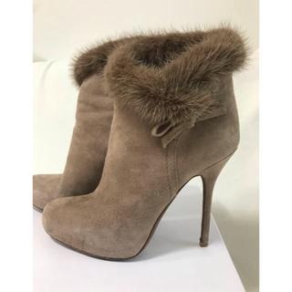 クリスチャンディオール(Christian Dior)のディオール ショートブーツ36サイズ ピンクベージュ エレガント 銀座店購入♫(ブーツ)