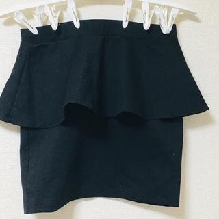 ZARA - ザラ ペプラムスカート 黒
