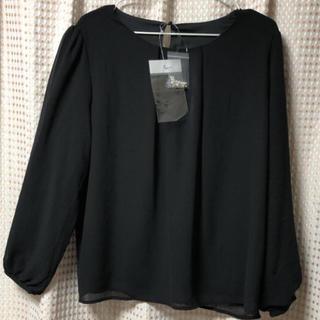 ニッセン - 新品  ブラック ブラウス   L L〜3 L  大きいサイズ