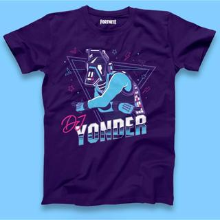 フォートナイト公式 DJ Yonder パープル Tシャツ ヨンダー(Tシャツ/カットソー(半袖/袖なし))
