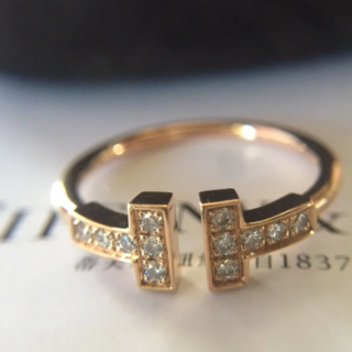 ティファニー(Tiffany & Co.)のファニー(正規品) T字リング (リング(指輪))