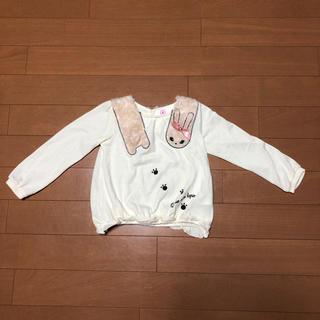 アクシーズファム(axes femme)のaxes femme kids うさちゃんマフラー風長袖セーター120(ニット)