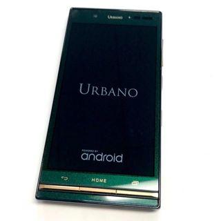 au - 超美品 au スマートフォン URBANO V03 KYV38 グリーン