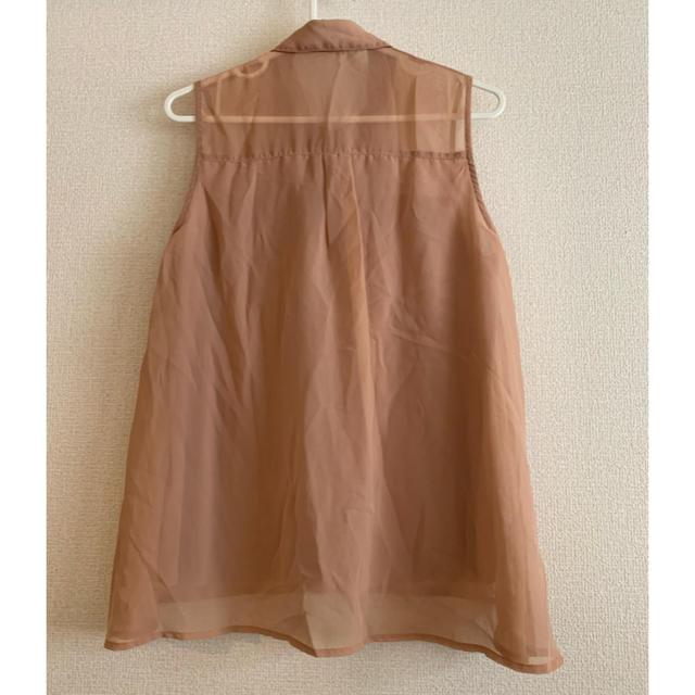GU(ジーユー)のジーユー ノースリーブシャツ ブラウス レディースのトップス(シャツ/ブラウス(半袖/袖なし))の商品写真