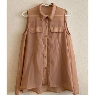 ジーユー(GU)のジーユー ノースリーブシャツ ブラウス(シャツ/ブラウス(半袖/袖なし))