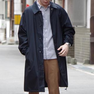 コモリ(COMOLI)の【定価60,480円】AURALEEステンカラーコート 17ss NV サイズ4(ステンカラーコート)