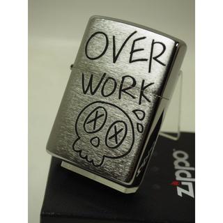ジッポー(ZIPPO)のZippo SKULL スカル/Over Work ドクロ USA加工(タバコグッズ)