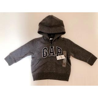 ベビーギャップ(babyGAP)のbabyGAPフード付きパーカー 濃いグレー80cm(トレーナー)