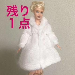 バービー(Barbie)のバービー人形サイズ 白のコート ブライス ジェニー リカちゃん ドレス 靴 洋服(キャラクターグッズ)