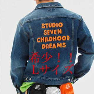 サンダイメジェイソウルブラザーズ(三代目 J Soul Brothers)のGU x STUDIO SEVEN デニムジャケット L ブルー(Gジャン/デニムジャケット)