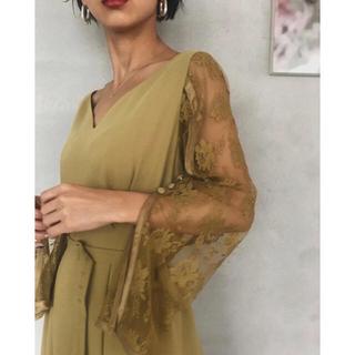 アメリヴィンテージ(Ameri VINTAGE)のBACK FLARE REFIND DRESS(ロングドレス)