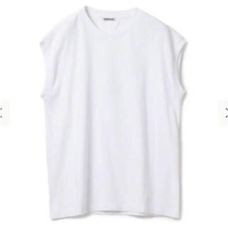 ロンハーマン(Ron Herman)の新品タグ付き✳︎ AURALEE 定番 ノースリーブTシャツ おーラリー リブ(Tシャツ(半袖/袖なし))