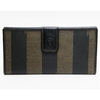 フェンディ(FENDI)のFENDIフェンディ 二つ折り長財布 ペカン柄 ヴィンテージ 正規品(財布)