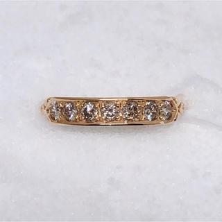 天然ダイヤモンド0.5ct 唐草リング(リング(指輪))