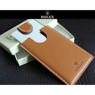 ロレックス(ROLEX)のROLEX ロレックス 厚手 革製 携帯用 コンパクトミラー ミラー 鏡 手鏡(ミラー)