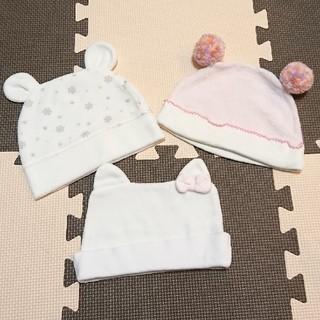 サンリオ - 新生児 帽子 3枚セット
