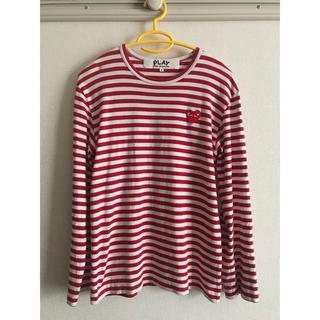 コムデギャルソン(COMME des GARCONS)のコムデギャルソン PLAY ボーダーロングTシャツ(Tシャツ/カットソー(七分/長袖))