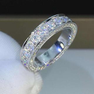 【newカラー】フルエタニティ モアサナイト  ダイヤモンド リング(リング(指輪))