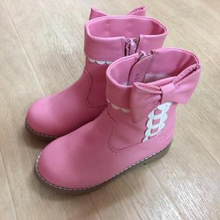 Shirley Temple - シャーリーテンプル☆はしごリボンブーツ☆15cmピンク