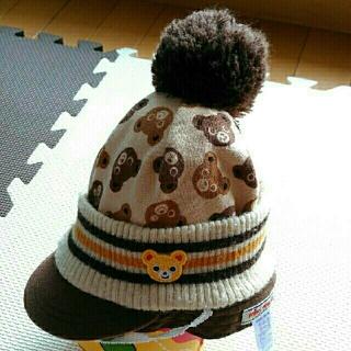 ニット帽 ミキハウス Mサイズ