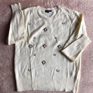 ディーエイチシー(DHC)のDHC モヘア混ビジュー付きセーター(ニット/セーター)