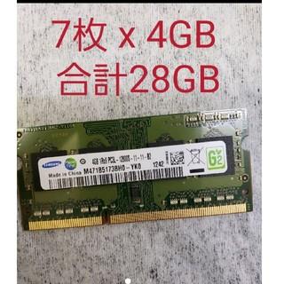 SAMSUNG - 8枚 x Samsung サムスン 4GB DDR3 ノートパソコン用メモリ