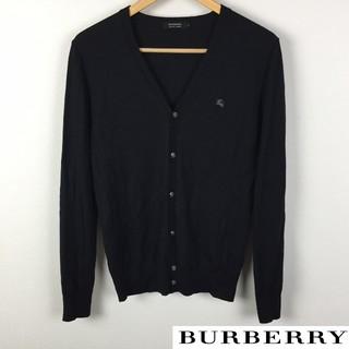 バーバリーブラックレーベル(BURBERRY BLACK LABEL)の美品 BURBERRY BLACK LABEL 長袖カーディガン ブラック(カーディガン)