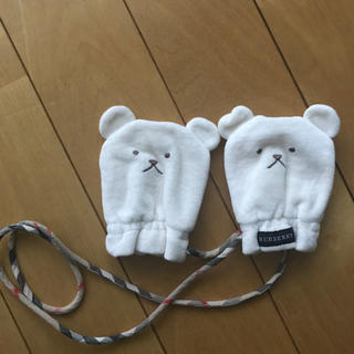 バーバリー(BURBERRY)の美品 バーバリー ベビー ミトン 手袋(手袋)