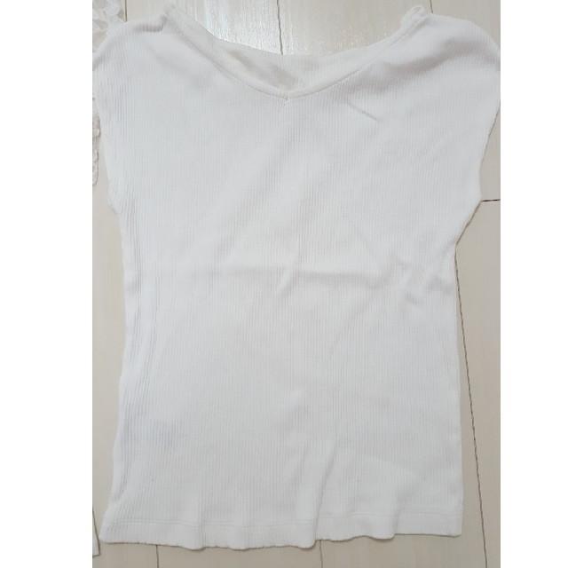 GU(ジーユー)のGU☆3点セット!ドットパンツレースノースリーブsサイズ レディースのトップス(シャツ/ブラウス(半袖/袖なし))の商品写真