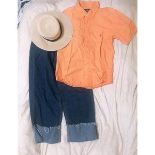 ラルフローレン(Ralph Lauren)のラルフローレン 半袖シャツ オレンジ(シャツ/ブラウス(半袖/袖なし))