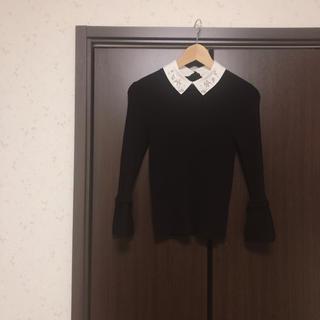 リランドチュール(Rirandture)のリランドチュール ビジュー ニット 襟付き ニット フリル(ニット/セーター)