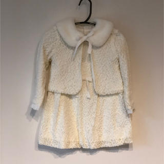 COMME ÇA COLLECTION - COMME CA FOSSETTE ワンピ&カーデ&ファー100サイズ