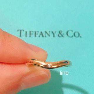 ティファニー(Tiffany & Co.)のティファニー Tiffany ダイヤモンド カーブド バンド リング k18RG(リング(指輪))