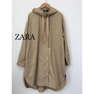 ZARA - ZARA フード ナイロン コート ベージュ