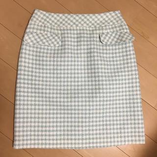 デビュードフィオレ(Debut de Fiore)の未使用品  チェックスカート(ひざ丈スカート)