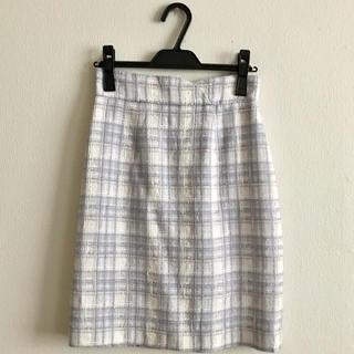 Rirandture - 美品‼︎ 膝丈タイトスカート ファンシーチェック ツイード  ブルー