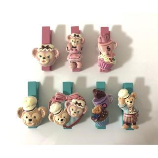ダッフィー(ダッフィー)の♡激レア♡ダッフィー&シェリーメイ 木製クリップセット(キャラクターグッズ)