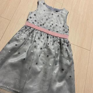 ベベ(BeBe)のべべ BeBe ワンピース ドレス 120cm  小花柄 チュール 美品(ワンピース)