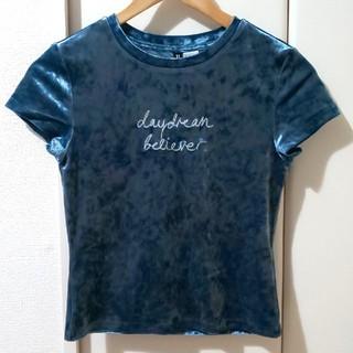 エイチアンドエム(H&M)のH&M◇ベロアTシャツ(Tシャツ(半袖/袖なし))