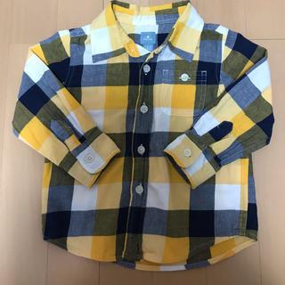 ベビーギャップ(babyGAP)のチェックシャツ 90 baby GAP(ブラウス)