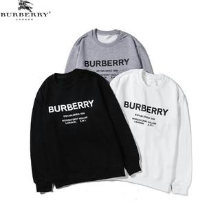 BURBERRY - 3色 男女兼用トレーナー 薄手